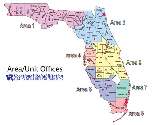 Florida Location Map.Vr Office Locations